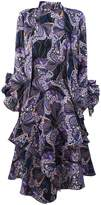 Etro Blue And Purple Silk Dress