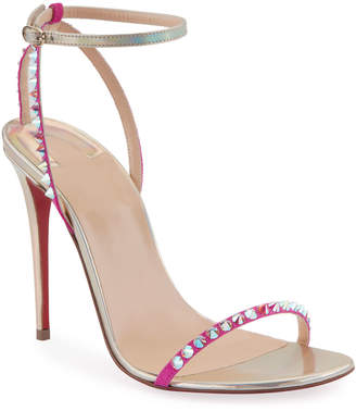 Christian Louboutin So You Strappy Spike Red Sole Sandals