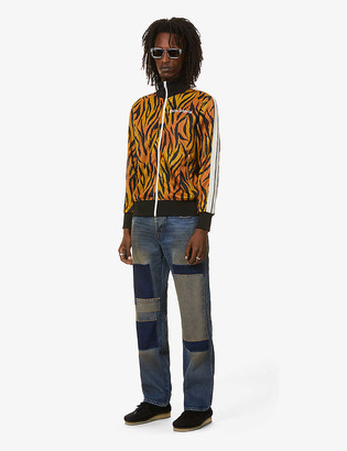 Palm Angels Tiger-print jersey track jacket