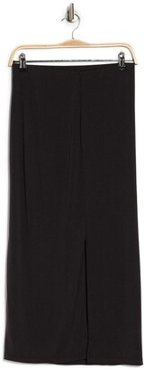 Catherine Malandrino Long Jersey Knit Slit Skirt