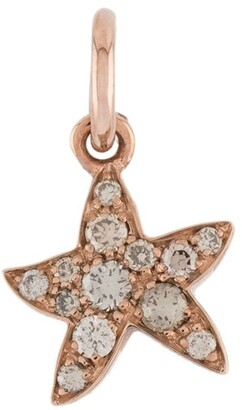Dodo 9kt rose gold So Happy To Have Found You brown diamond star charm
