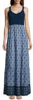 Asstd National Brand Studio West Sleeveless Crochet-Top Maxi Dress - Tall