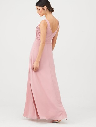 Very Bridesmaid Pleated Bust Maxi Dress