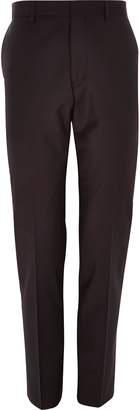River Island Mens Purple wool-blend slim suit trousers
