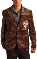 Ed Hardy Mens Tiger Velvet Blazer Jacket