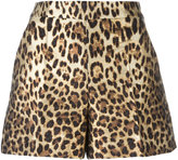 RED Valentino leopard print shorts - women - Cotton/Polyamide/Polyester/Acetate - 40