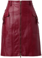 Derek Lam Structured leather pencil skirt