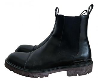 Louis Vuitton Black Leather Boots