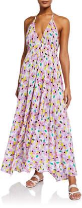 Kate Spade floral halter maxi dress coverup