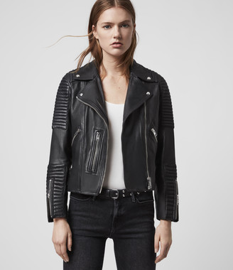 AllSaints Estella Leather Biker Jacket