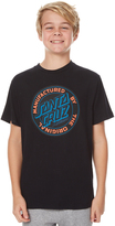 Santa Cruz Kids Boys Original Dot Tee Black