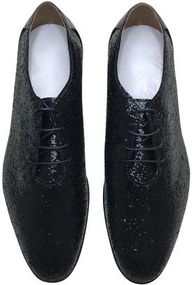 Maison Margiela Black Glitter Lace ups