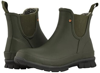 Bogs Amanda Plush Slip-On (Black) Women's Rain Boots