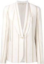 Brunello Cucinelli striped blazer - women - Cotton/Cupro - 38