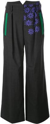 Kolor Geometric Print Tapered Trousers