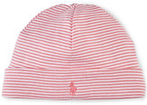Ralph Lauren Girls' Striped Beanie-Style Hat