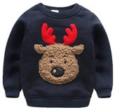 JELEUON Baby Boys Girls Toddler Lovely Christmas Knitting Cotton Thick Winter Warm Sweatshirt