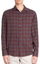 Michael Kors Enzo Slim-Fit Checkered Shirt