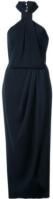 Shona Joy wrap style halterneck dress