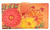 Anuschka Hand-Painted Leather Two-Fold Organizer Wallet
