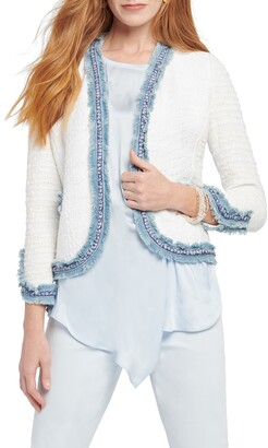 Nic+Zoe Bright Side Open Front Crop Jacket