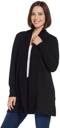 Isaac Mizrahi Live! SOHO Plushed Back Open Front Jacket