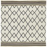 Tribeca Flatweave Ziggy Black Wool Rug (8' Square)