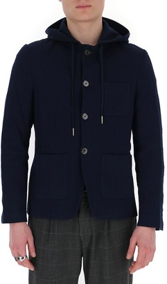 Thom Browne Striped Hooded Blazer