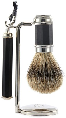 Lorenzo Villoresi Ebony wood shaving set