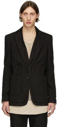 Isabel Benenato Black Double Collar Blazer