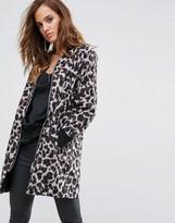 Religion Longline Bomber Jacket In Leopard Print