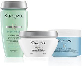 Kérastase Fusio Scrub Oily Scalp Home Treatment Hair Care Set