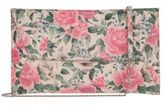 Lodis Bouquet Floral-Print Leather Clutch