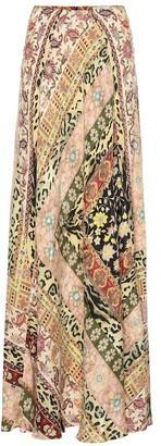 Etro Printed jacquard maxi skirt