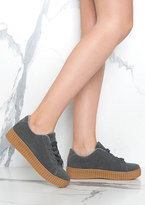 Missy Empire Alura Grey Creepers Shoes