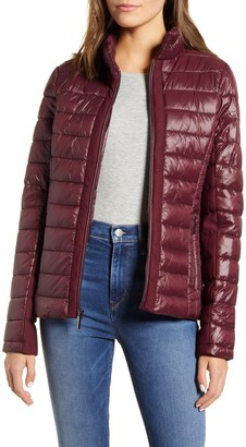 Andrew Marc Packable Mesh Puffer Jacket