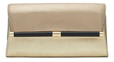 Diane von Furstenberg 440 Envelope Mixed Metallic Leather Clutch