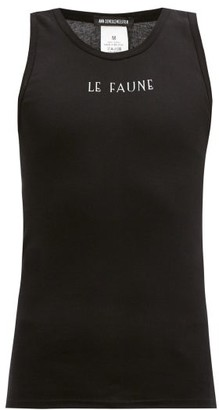 Ann Demeulemeester Le Faune-print Cotton-jersey Tank Top - Black