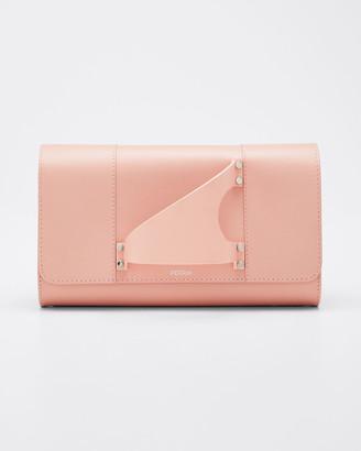Perrin Paris L'Eiffel Leather Clutch Bag
