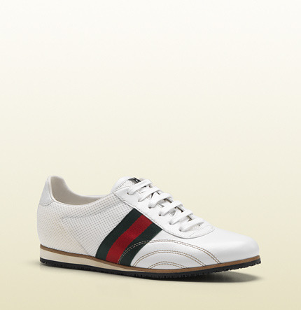 Gucci Lace-Up Sneaker With Signature Web Detail