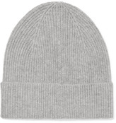 Isabel Marant Chilton Ribbed Cashmere Beanie - Gray