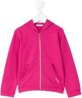 Liu Jo Kids - lace trim hoodie - kids - Cotton/Spandex/Elastane - 3 yrs