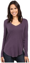 Lilla P Fine Rib Long Sleeve V-Neck Women's Clothing