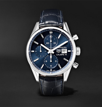 Tag Heuer Carrera Automatic Chronograph 41mm Steel And Alligator Watch, Ref. No. Cbk2112.fc6292