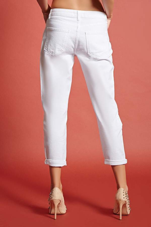 Forever 21 Mid-Rise Girlfriend Ankle Jeans