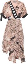 Preen by Thornton Bregazzi Scarlet asymmetric printed silk-crepe dress