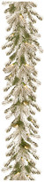 clear National Tree Company 9' Feel Real Snowy Sheffield Spruce Garland With 70-Light