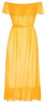 Marysia Swim Victoria Off-the-shoulder Cotton And Silk Crêpon Dress