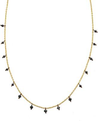 Black Diamond Sethi Couture Drop Necklace