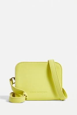 Urban Outfitters Faux Leather Wallet Crossbody - Green ALL at